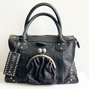 Betsey Johnson RARE bag w coin purse & stud accent